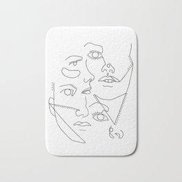 Abstract Faces Bath Mat