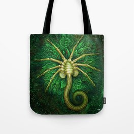 Facehugger (green) Tote Bag
