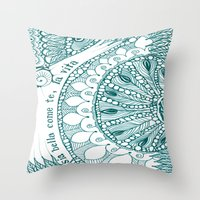 sia Throw Pillows featuring Sia Bella Come Te by Jen Fleming