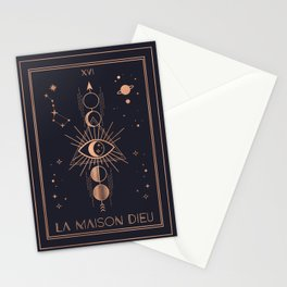 La Maison Dieu or The Tower Tarot Stationery Cards