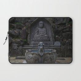 Yakcheonsa Buddha and Fountain Laptop Sleeve