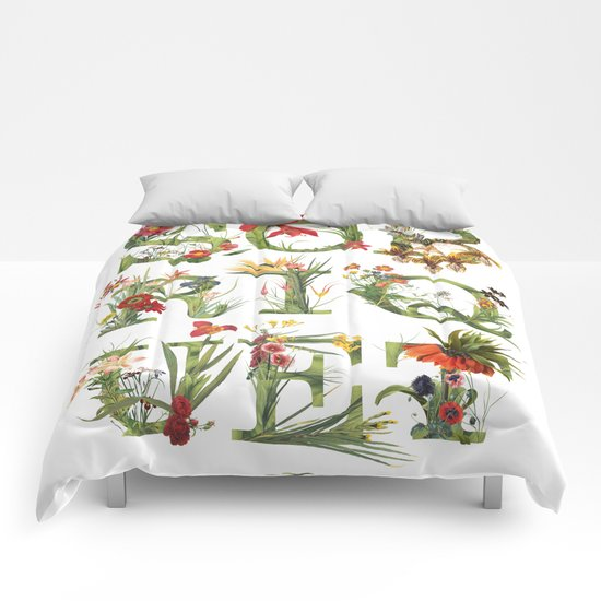 Sobriquet Floral. Comforters