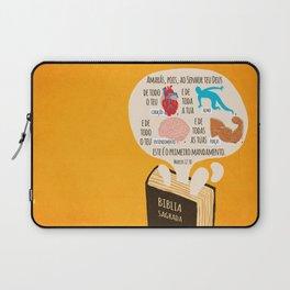Marcos 12:30 Laptop Sleeve