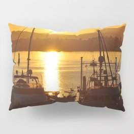 Sunset And The Boats Pillow Sham