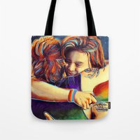 larry Tote Bags featuring Home - Larry by art-changes