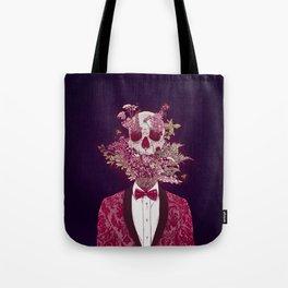 Skull Blossom Tote Bag