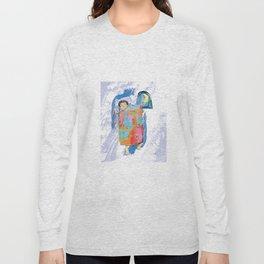 Sleeping and dreaming illustration, design for children Long Sleeve T-shirt
