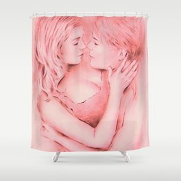 Love whispered - Couple in love Shower Curtain