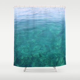The Turquoise Coast Shower Curtain