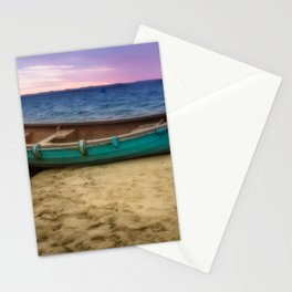 Boat by the sea Stationery Cards