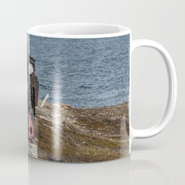 Old locomotive in Svalbard landscape Coffee Mug