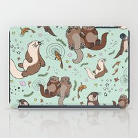 otters iPad Cases featuring Sea Otters by Nemki