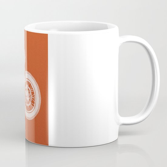 Four wheels transport the body, two wheels move the soul Mug