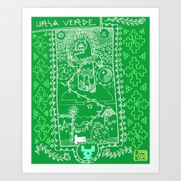 URSA VERDE Art Print