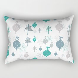 Christmas white ornaments Rectangular Pillow