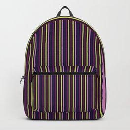 Hellebores Stripe - Navy Backpack
