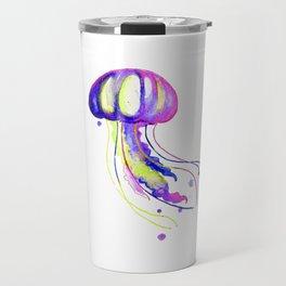 Colorful Jellyfish Travel Mug