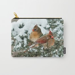 After the Snow Storm: Three Cardinals Carry-All Pouch