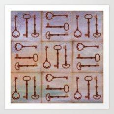 keys to secret doors Art Print