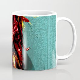 Chile Ristra Hanging on a Turquoise Door Coffee Mug