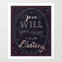 jane eyre Art Prints featuring Destiny – Jane Eyre by Leah Doguet