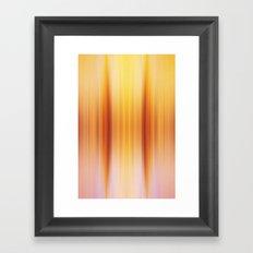 Golden Pillars Framed Art Print