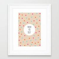 treat yo self Framed Art Prints featuring Treat Yo Self II by Galaxy Eyes