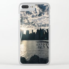brooklyn views of nyc Clear iPhone Case