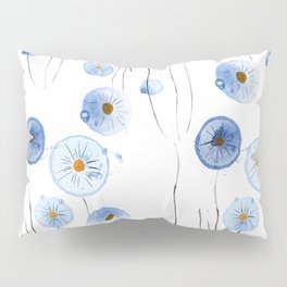blue abstract dandelion 2 Pillow Sham