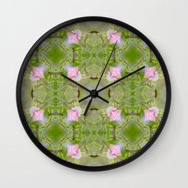 Petunia Kaleidoscope Wall Clock