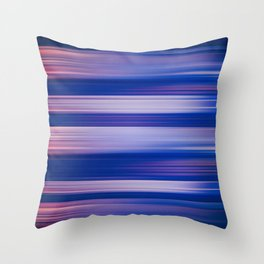 Abstract background blur motion hot pursuit violet Throw Pillow