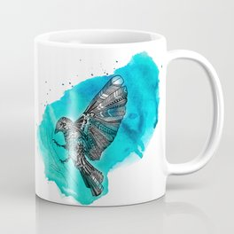 blue mosaik bird Coffee Mug