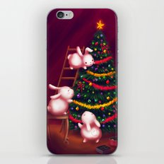 Chubby bunnies decorate the tree iPhone & iPod Skin