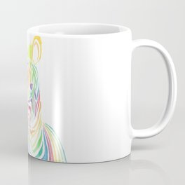 Watercolor Rainbow Zebra Coffee Mug