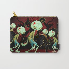 Zombie Creepy Monster Cartoon on Cemetery Carry-All Pouch