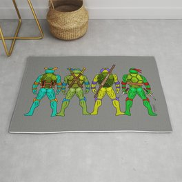 Superhero Butts - Turtles Rug