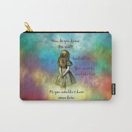 Wonderland Time - Alice In Wonderland Quote Carry-All Pouch