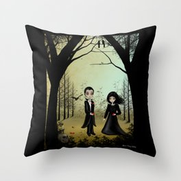 Our Hearts - Gothic Romance Art Throw Pillow
