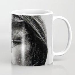 Brigitte Bardot Smoking a Cigarette, Black and White Photograph Coffee Mug