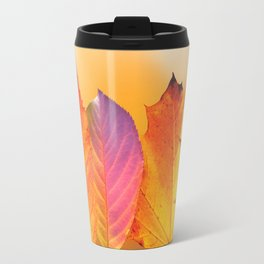 Autumn Leaves Colorful Modern Fine Art Photography Travel Mug