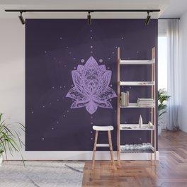 Gentle Pastel Violet Lotus Flower Wall Mural