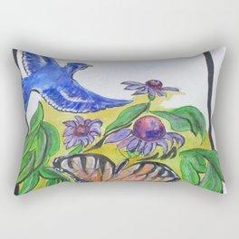 Blue Jay Fantasy Rectangular Pillow