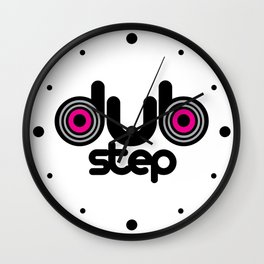 Dubstep Speakers Rave Quote Wall Clock