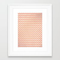 peach Framed Art Prints featuring Peach by C Designz