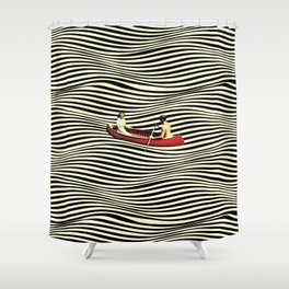Illusionary Boat Ride Shower Curtain