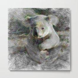 Artistic Animal Koala 3 Metal Print