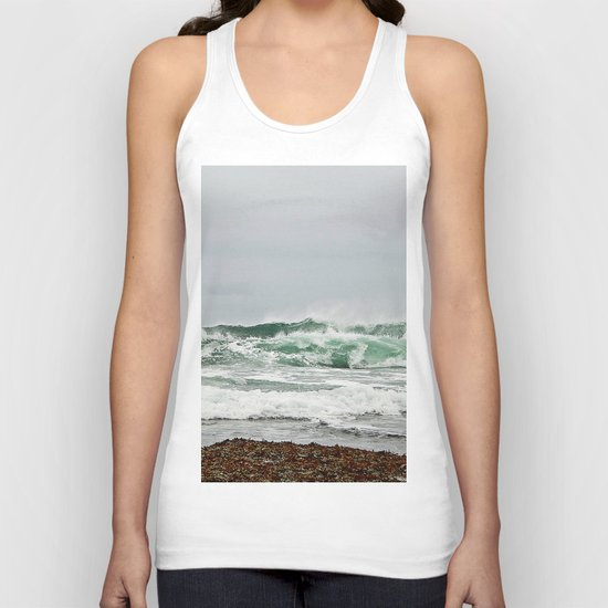 Explosive Green Surf of the St-Lawrence Unisex Tank Top