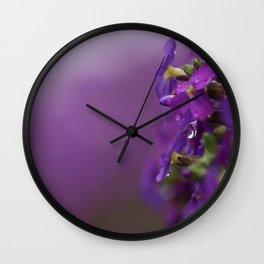 Purple backdrop Wall Clock