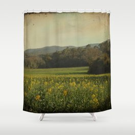 Once Upon a Time a Field of Flowers Shower Curtain