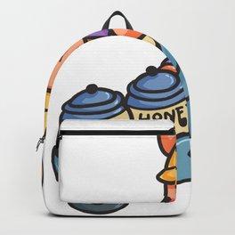Bear Construction honey wheelbarrow children gift Backpack